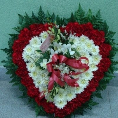 Heart Funeral Wreath