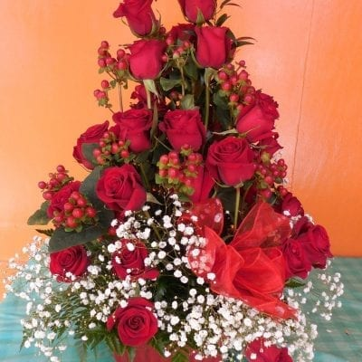Rose & Berry Floral Arrangement