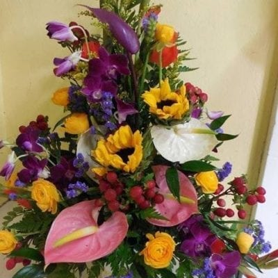 Colourful Assorted Floral Arrangement