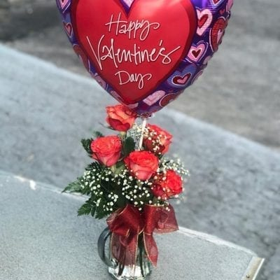 Roses with Balloon