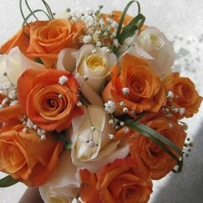 Orange Hand-tied Bridal